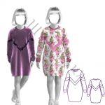 Выкройка теплого платья для девочки KD021219