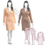 Выкройка платья-жакета WD051219