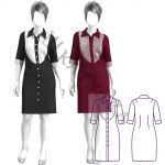 Выкройка платья-рубашки WD171219
