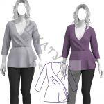 Выкройка трикотажной блузки WT170120