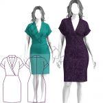 Выкройка трикотажного платья WD240120