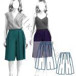 Выкройка юбки-бриджей WP040220