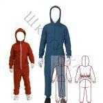 Выкройка детского трикотажного комбинезона KO070220