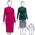 Выкройка трикотажного платья со стойкой WD180220