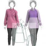 Выкройка женского пуловера WC250220