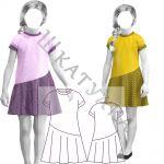 Выкройка платья с воланом для девочки KD060320