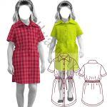 Выкройка платья-рубашки для девочки KD140420