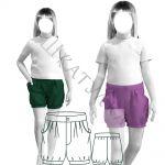 Выкройка детских шорт KP210420