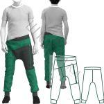 Выкройка детских брюк без переднего шва KP280420