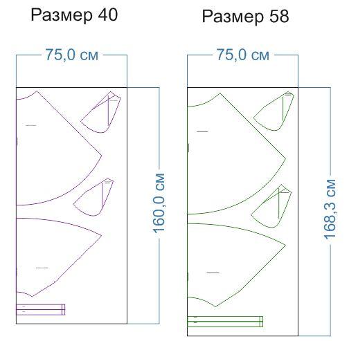 расход ткани 40,58