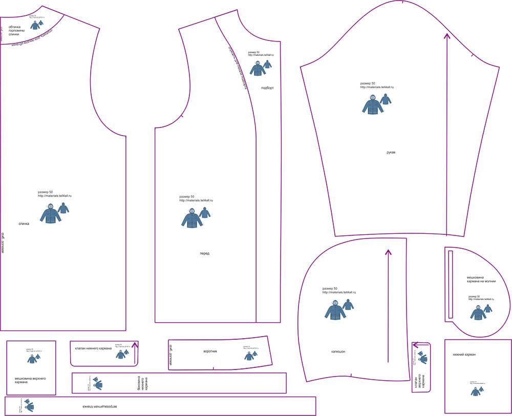 Выкройку pdf куртки мужской