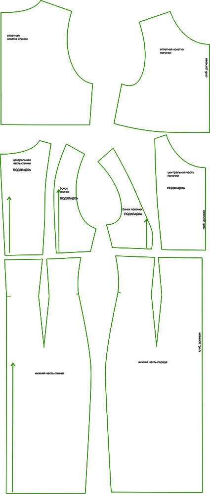 Готовые выкройки женской одежды.шкатулка