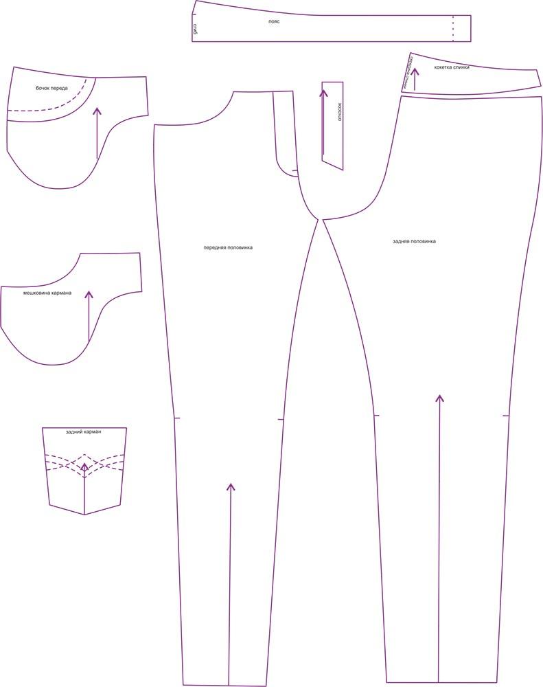 Выкройка на джинсы зауженные фото 919