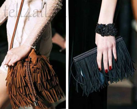 сумочки с бахромой.