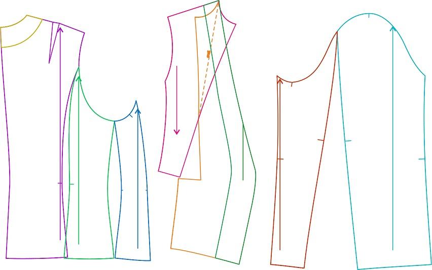 Выкройки жакетов для полных леди 16 . . Выкройки женских брюк больших размеров 22
